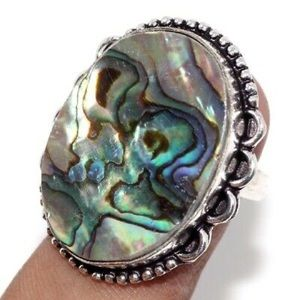 New Abalone Ring, Size 7 , stamped 925